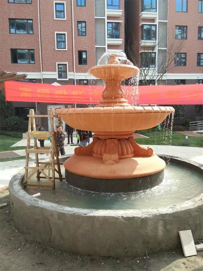 喷泉-砂岩雕塑