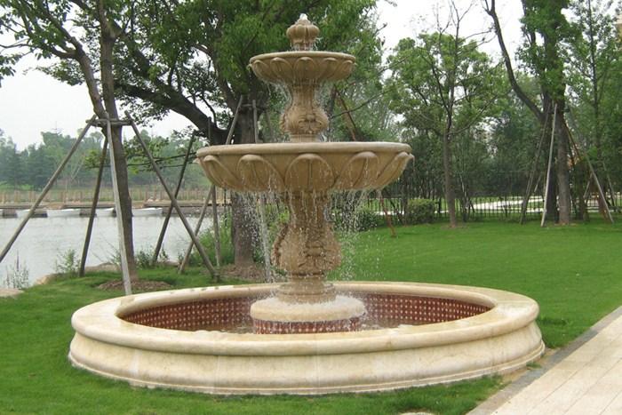 砂岩材质圆雕_园林喷泉